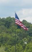 US flag in WV