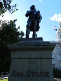 statue of gen stark, NH state house, concord