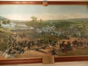civil war mural, pickett's charge