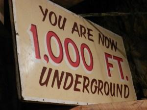 1000 ft underground