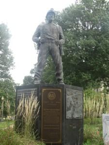 coal mining statue in WV