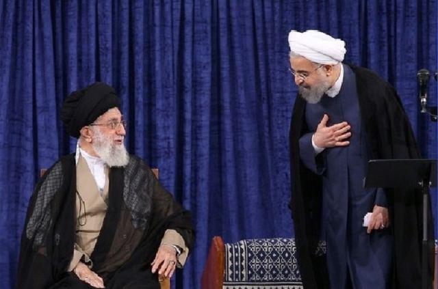 Hassan Rouhani and Iran regimes supreme leader Ali Khamenei BYMARIO ALEXIS PORTELLA