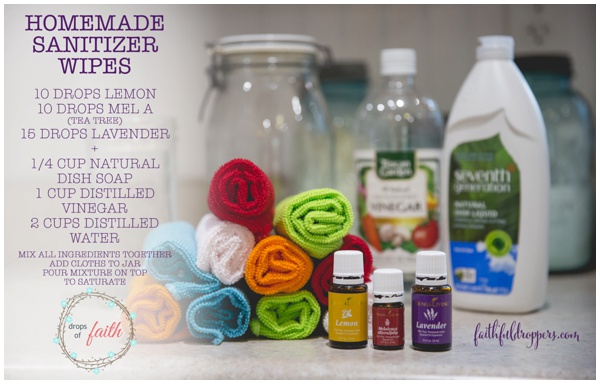 Drops of Faith Homemade Sanitizer Wipes DIY
