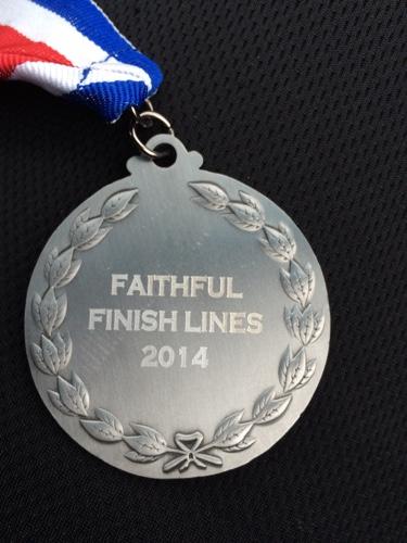 faithful finish lines medal
