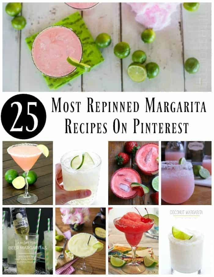 25 Most Repinned Margarita Recipes On Pinterest