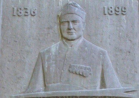 Detail from the plaque in Munster, Germany, marking the birthplace of Monsignor Joseph Jessing.