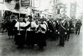 In New York's Italian neighborhoods the May processions were a high point of the year.