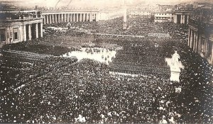 Pius IX's great Easter Mass of 1870 was the last public Church Ceremony held in St. Peter's Square until 1929.