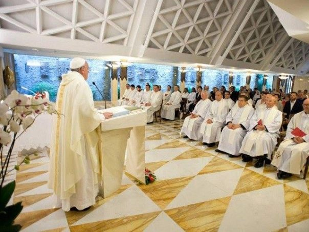 An integral part of Pope Francis' daily Mass in the Santa Marta Chapel, is the proclamation of God's Word followed by his homily.