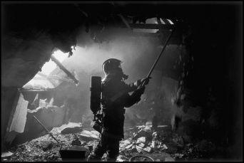 St Brieuc Mai 2004, feu appart d'un sapeur pompier volontaire
