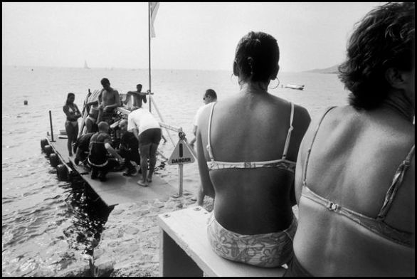 Var juiellet 2005, plage proche de Bormes les Mimosa, accident de ski nautique