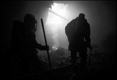 St Brieuc, mai 2004, 12H45, destruction du premier étage de la maison du sapeur pompier volontaire.
