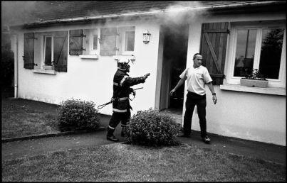 St Brieuc, mai 2004 12H35, feu de maison d'un pompier volontaire de la caserne de St Brieuc?