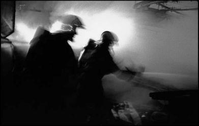 St Brieuc, mai 2004 04H56, feu dans une scierie, banlieue de St Brieuc