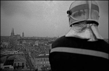 Bordeaux, mars 20040 8H30,vue du haut de l'echelle des pompiers, caserne Ornano