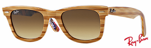 ray ban rb2140 orignial wayfarer sunglasses brown wooden frame grey gradient lens