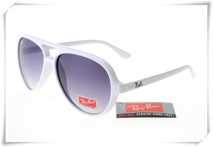 ray ban rb4125 cats 5000 sunglasses polishing white frame grey gradient lens
