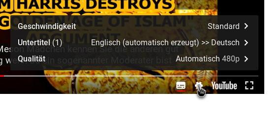 youtube - Geschwindigkeit