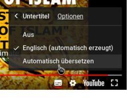 """Dort wählt man """"Automatisch übersetzen"""" aus."""