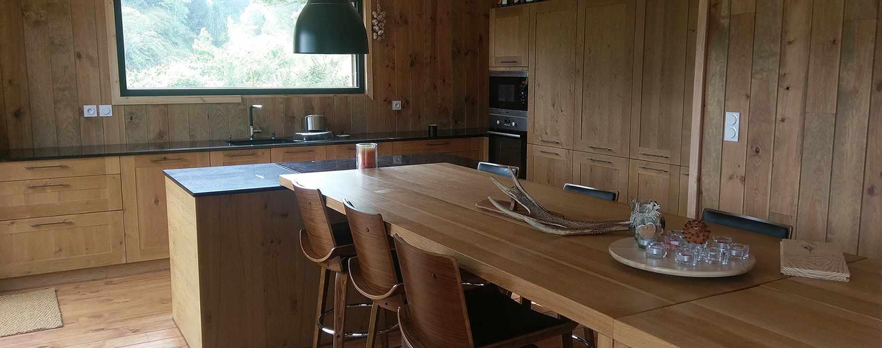 falco constructions bois, cuisine bois, menuiserie boi,