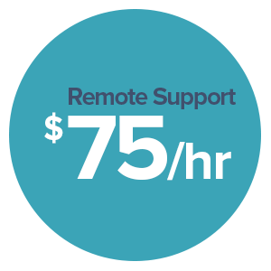 remote support $75/hour