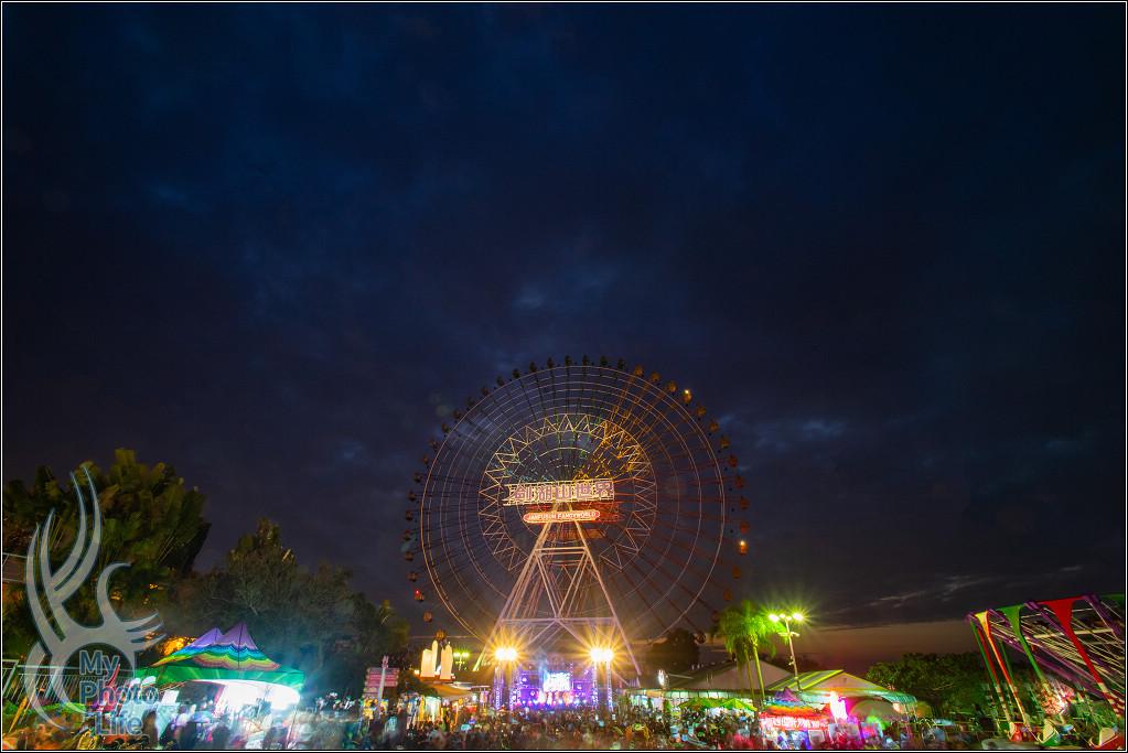 20190101劍湖山世界摩天輪.燈光&跨年煙火(廣角拍攝)