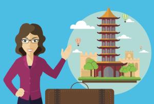 a travel agency representative