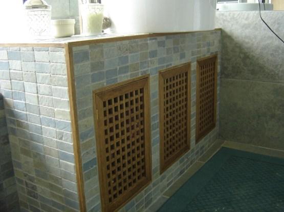mobile bagno in finta muratura