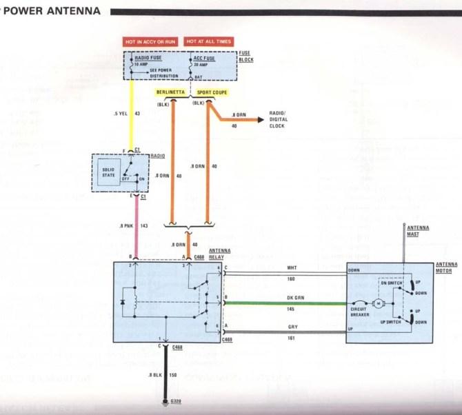 1986 camaro power antenna wiring diagram  wiring diagram