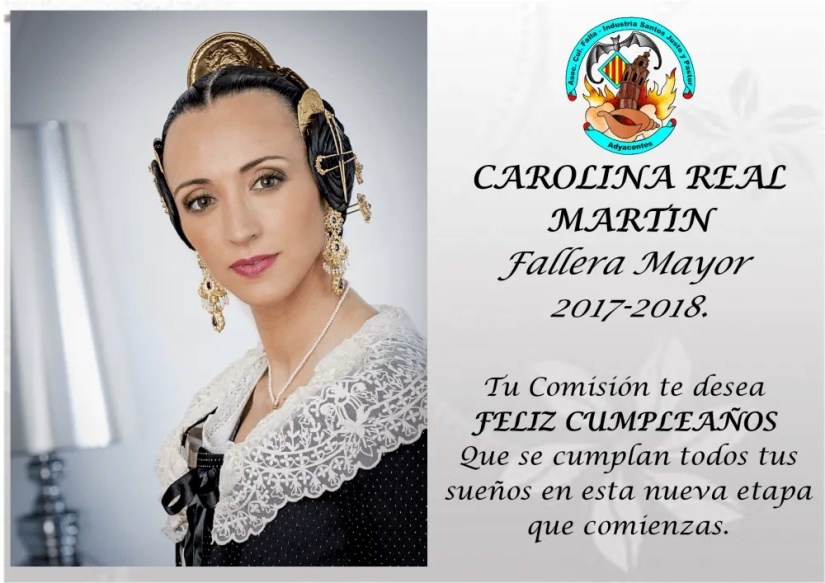 Felicidades Carolina Fallera Mayor Industria