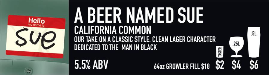 Beer Named Sue Beer Sign