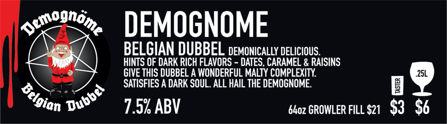 Demognome Beer Sign