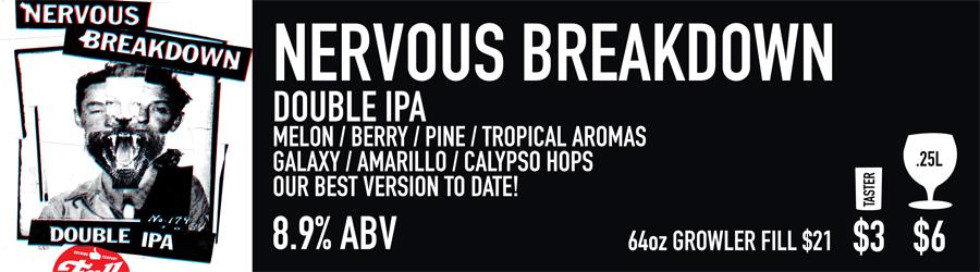 Nervous Breakdown Beer Sign