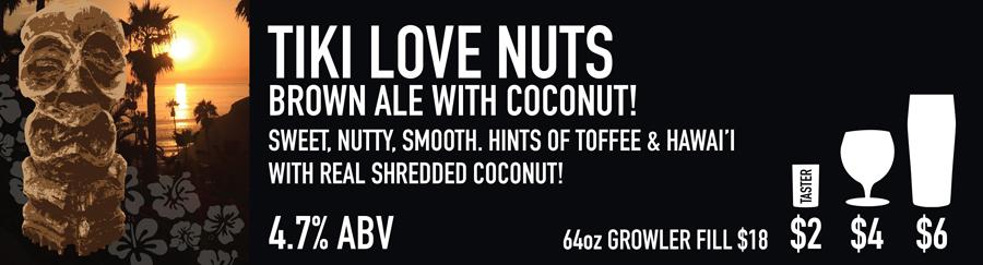 Tasting Room Sign of Tiki Coconut Beer