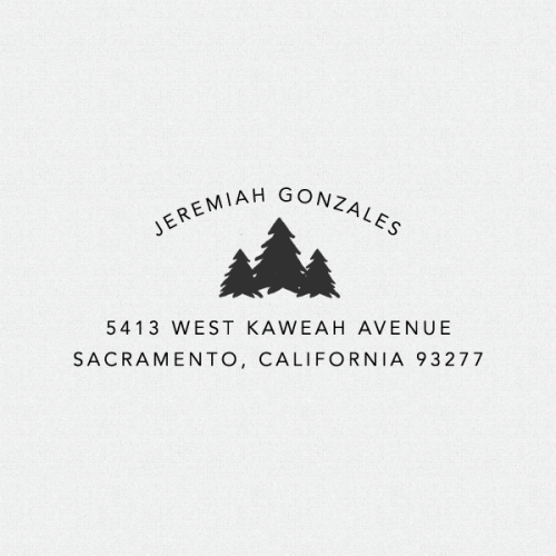 Beautiful Tree Return Address Stamp, Customize this stamp with your own information. Make it personalized just for you. Family names, his and her names, or a single name for this return address stamp!