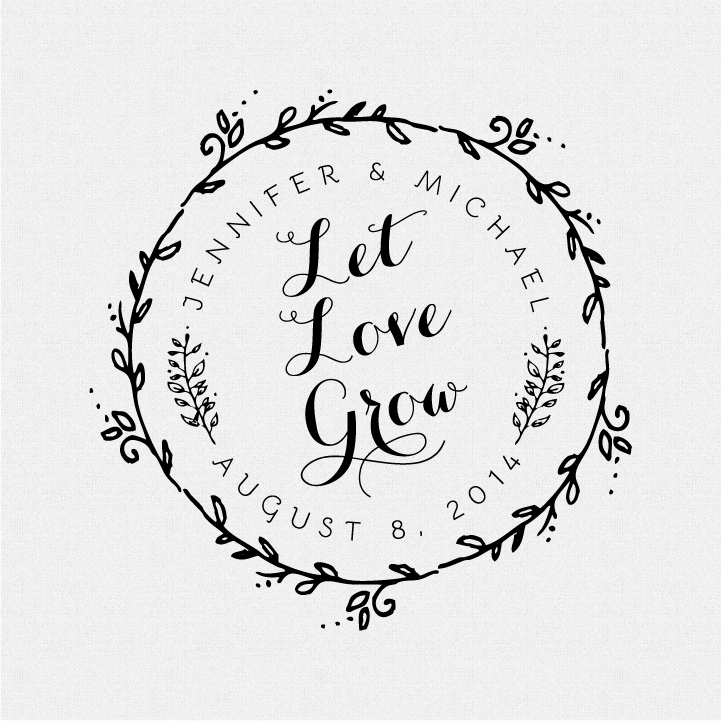 Download Let Love Grow Wedding Favor Stamp - Style #T174 • Fall For ...