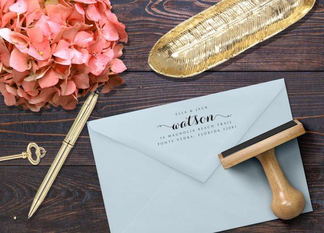 Stamping – Return Address Back Flap