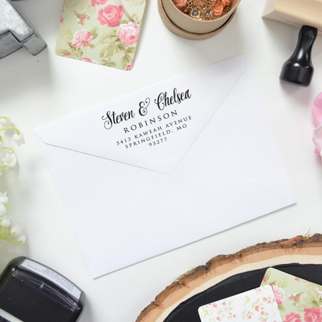 Simple Return Address Stamp Designs
