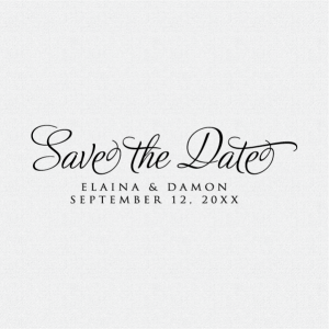 Custom Save the Date stamp for rustic wedding invitations or rustic wedding announcements.