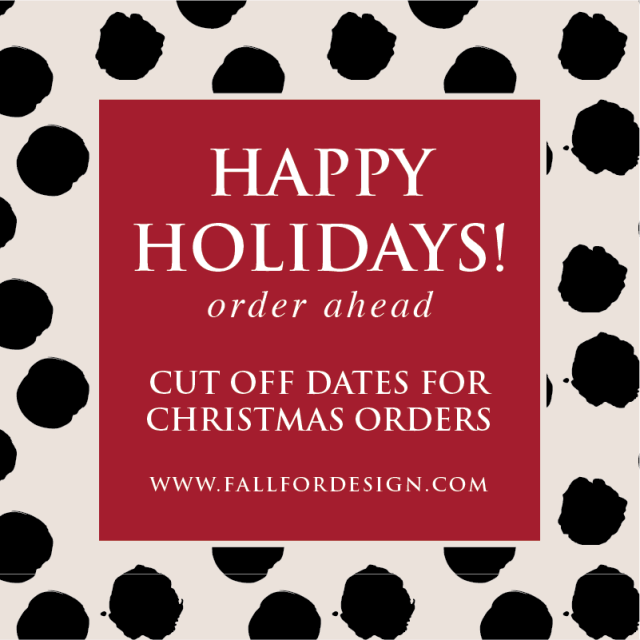 Christmas Orders Cut Off Dates 2015