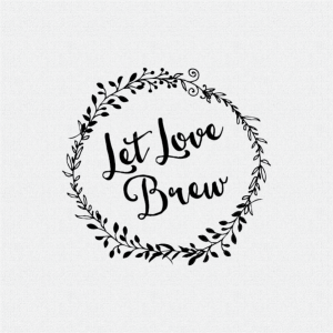 Let Love Brew Wedding Favor Stamp – Style T78