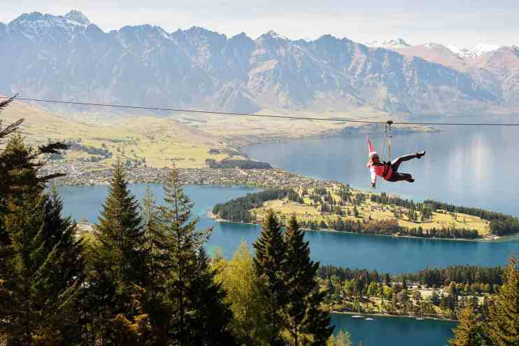 commercial action sports photography Queenstown Ziptrek ziplining flying fox