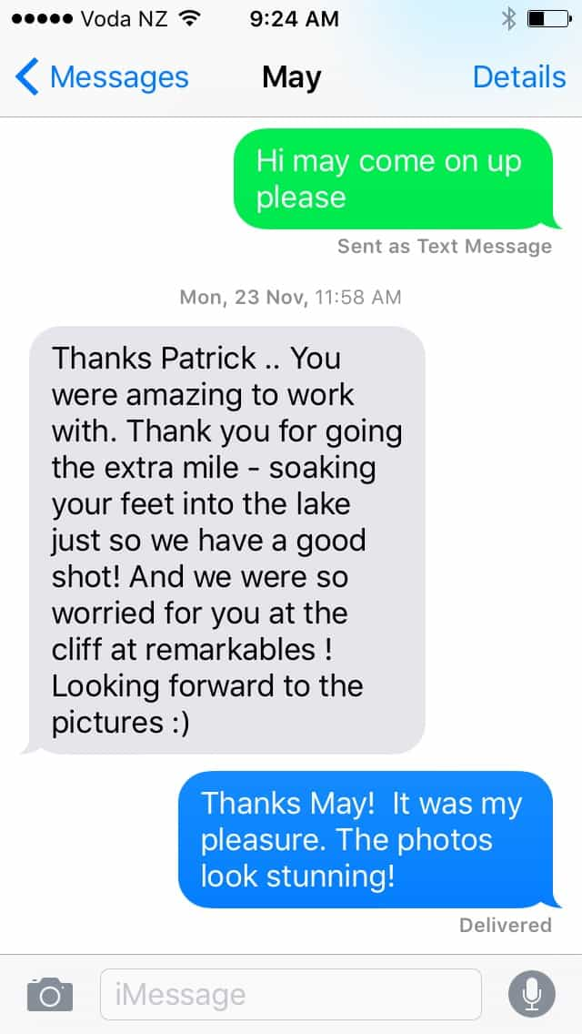 I love it when my clients love what I do (thanks for the kind words May and Alfred). fallon photography