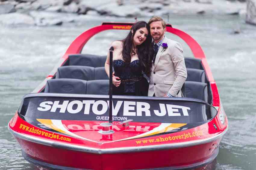 Unconventional Queenstown wedding