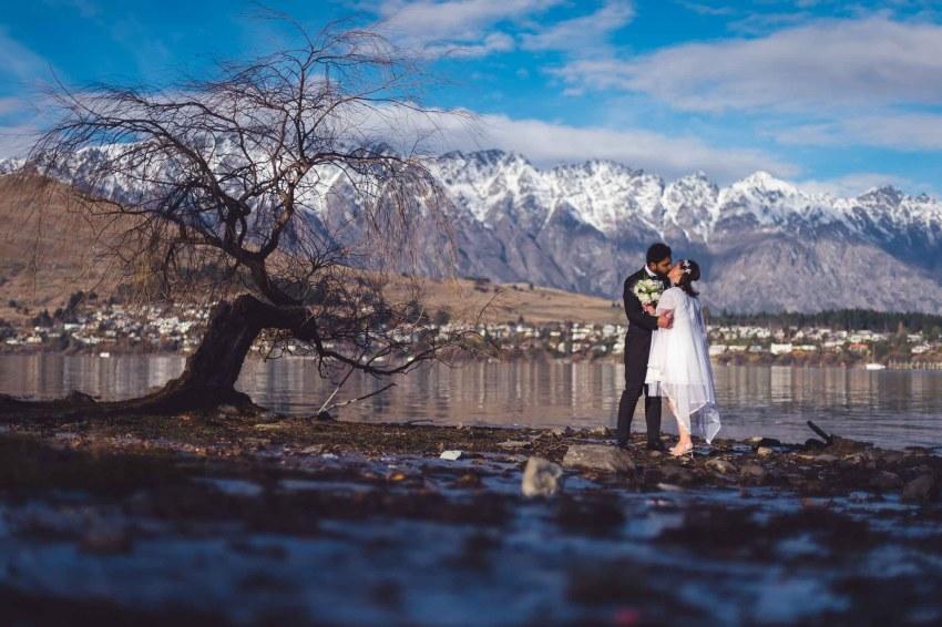 Queenstown post-wedding shoot trash the dress