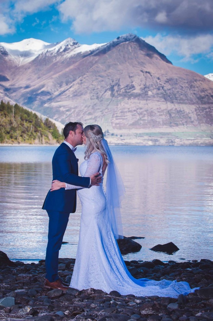 Bobs Cove Queenstown destination lakeside elopement