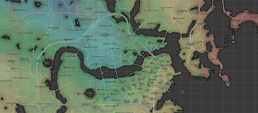 Fallout 4 Ultimate Map  Towns  Points of Interest Fallout 4 Map