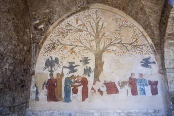 Affresco - fresco Middle Ages, italia