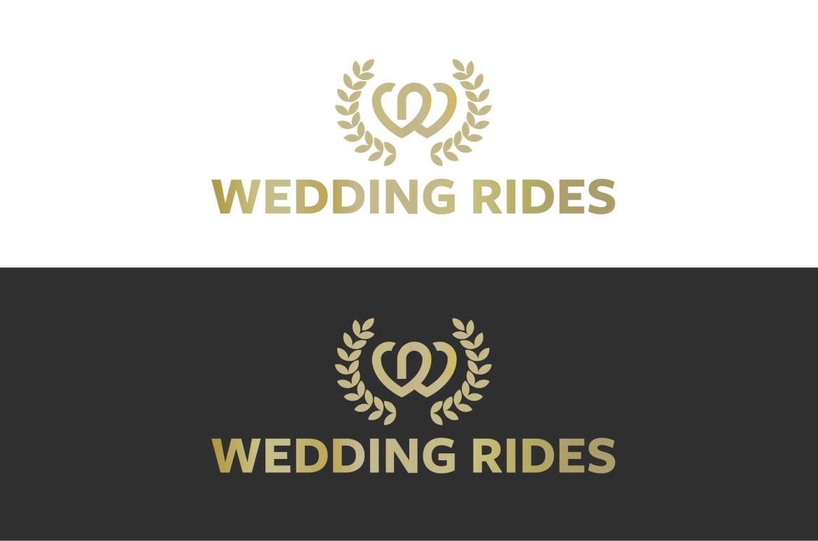 wedding rides logo logotyp