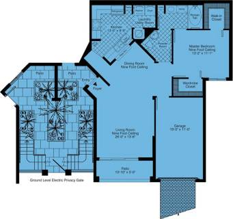 1 Bed / 1 Bath / 1,004 sq ft / Rent: Call for Details